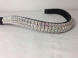 Preciosa Crystal Browband - Clear, Crystal AB, Clear