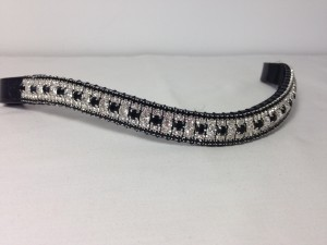 Preciosa Crystal Browband - Clear/Jet, Clear, Jet