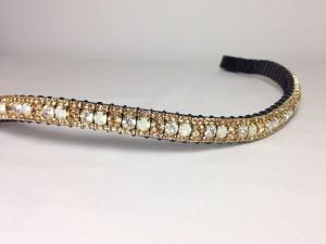 Preciosa Crystal Browband - Light Colorado Topaz/Clear/Opal and Light Colorado Topaz