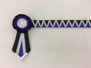 Sale Ribbon Show Browband Browband - Black, Purple and Silver