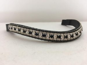 Sale Preciosa Crystal Browband – Clear and Jet