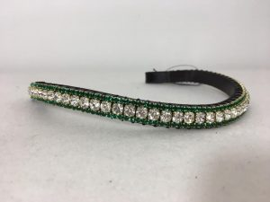 Sale Preciosa Crystal Browband – Clear and Emerald
