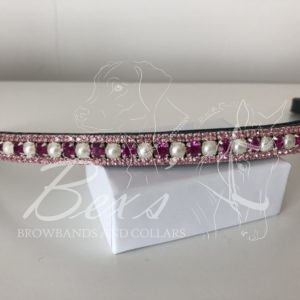 Fuchsia/Pearl 6mm, Light Rose 3mm. Straight shape