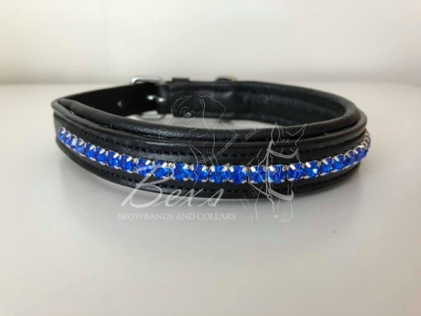 Sapphire Preciosa crystal dog collar