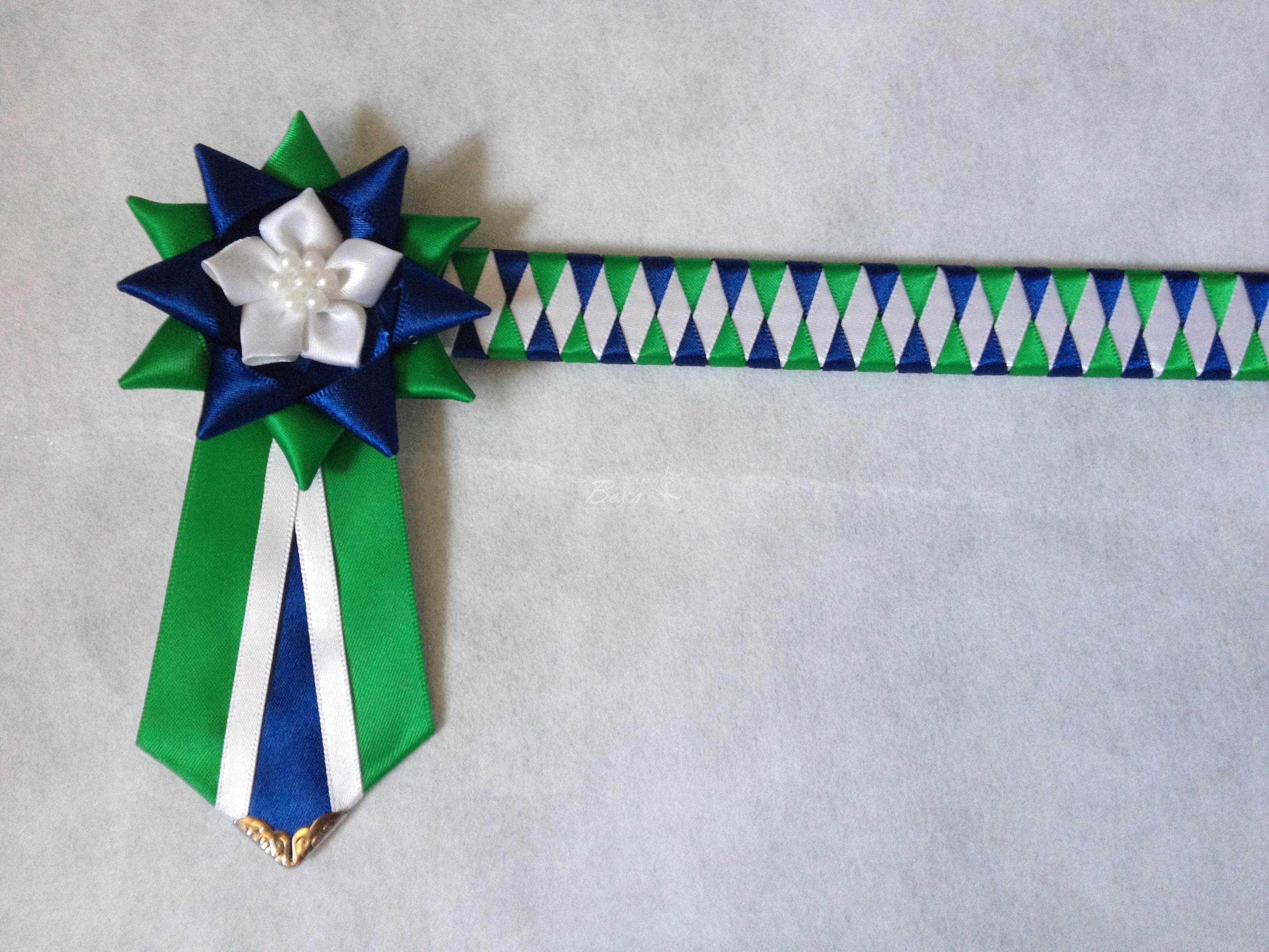 Build Your Own Ribbon Show Browband – Narrow Diamond