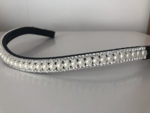 Preciosa Crystal Browband - Pearl and Clear