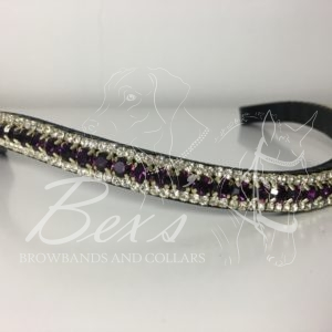 Amethyst and Crystal (Gold casing)