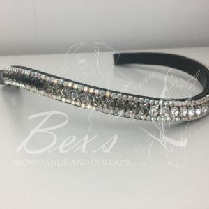 Jet, Black Diamond and Crystal gradient with Crystal AB