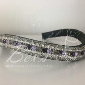 Amethyst, Violet and Black Diamond with Crystal and Black Diamond