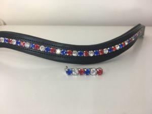 Preciosa Crystal Channelled Browband - Triple Colour