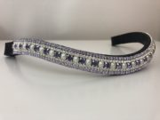 Pearl/Tanzanite 6mm, Crystal 3mm and Violet 3mm. Curved shape