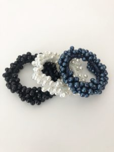 Beaded Hair Scrunchie
