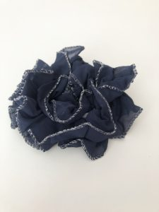 Hair Scrunchies with Metallic Trim