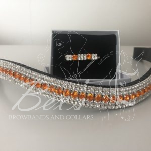 Sun 6mm, x2 Crystal 3mm with matching stock pin. Curved shape