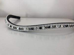 Preciosa Crystal Browband - Silver Grey Medley and Crystal