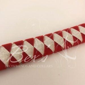Wide diamond: Red velvet outer diamond and White glitter satin inner diamond