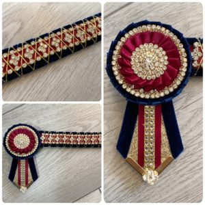Build Your Own Diamante Show Browband - Diamond Pattern Diamante Browband