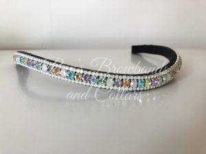 Unicorn Preciosa Crystal Browband - Pastel Rainbow and Opal